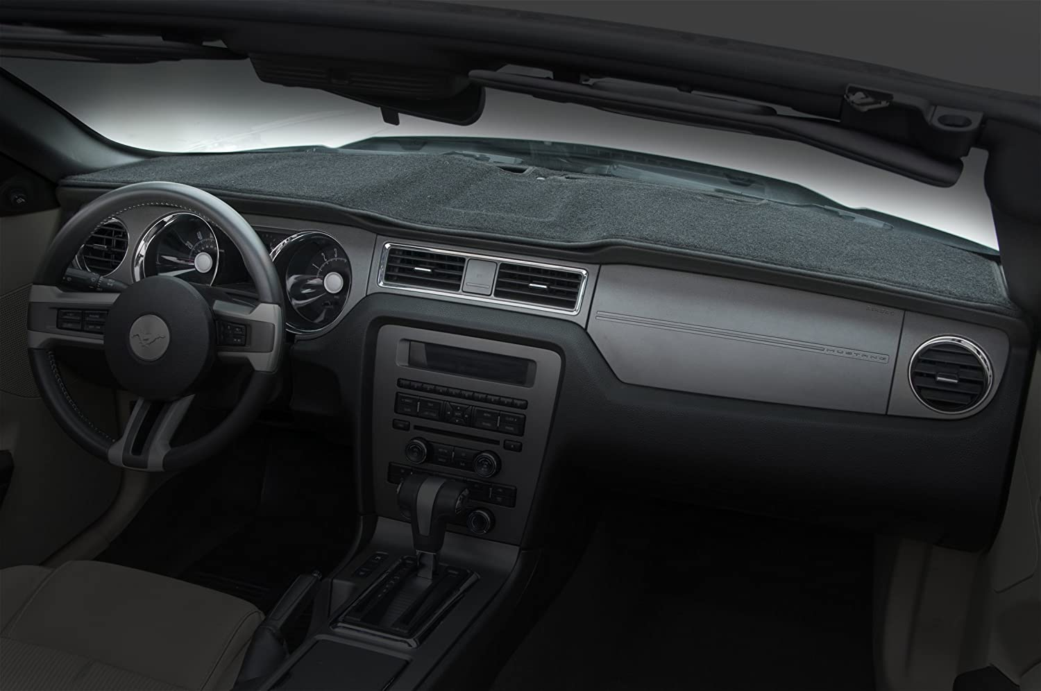 Coverking Custom Fit Dashboard Cover for Select RAM Models - Poly Carpet (Charcoal)