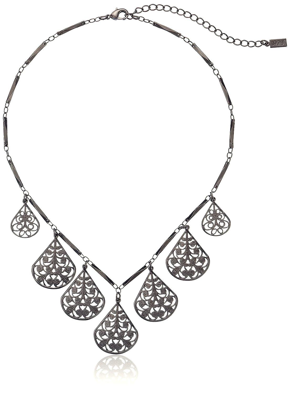 1928 Jewelry Vine Filigree Teardrop Collar Necklace, 16 + 3 extender 16 44078
