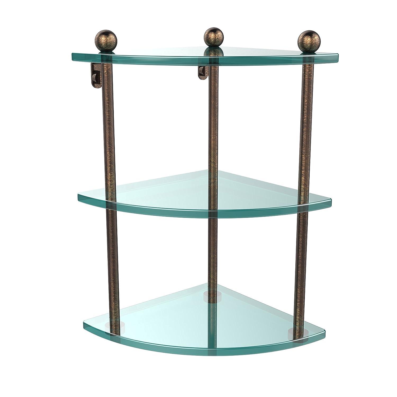Allied Brass PR-6-PNI 22 Triple Glass Shelf with TB Polished Chrome by Allied Brass B003XRS5KY