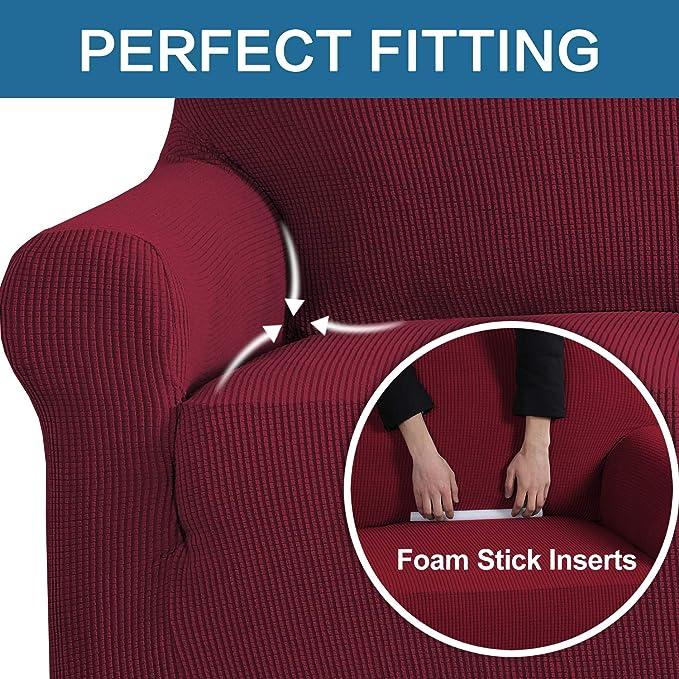 Amazon.com: H.VERSAILTEX Funda elástica para sofá de 1 pieza ...