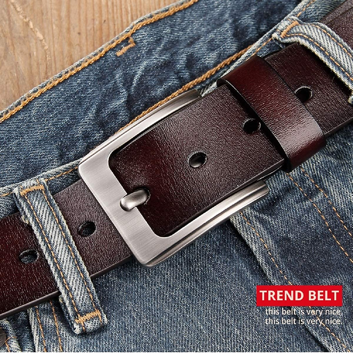MENS BELT for Mans jeans Simple retro vintage pin buckle male genuine leather belts fashion luxury long105-140cm