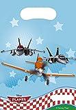 Sachets Anniversaire Planes x6 Disney - Taille Unique