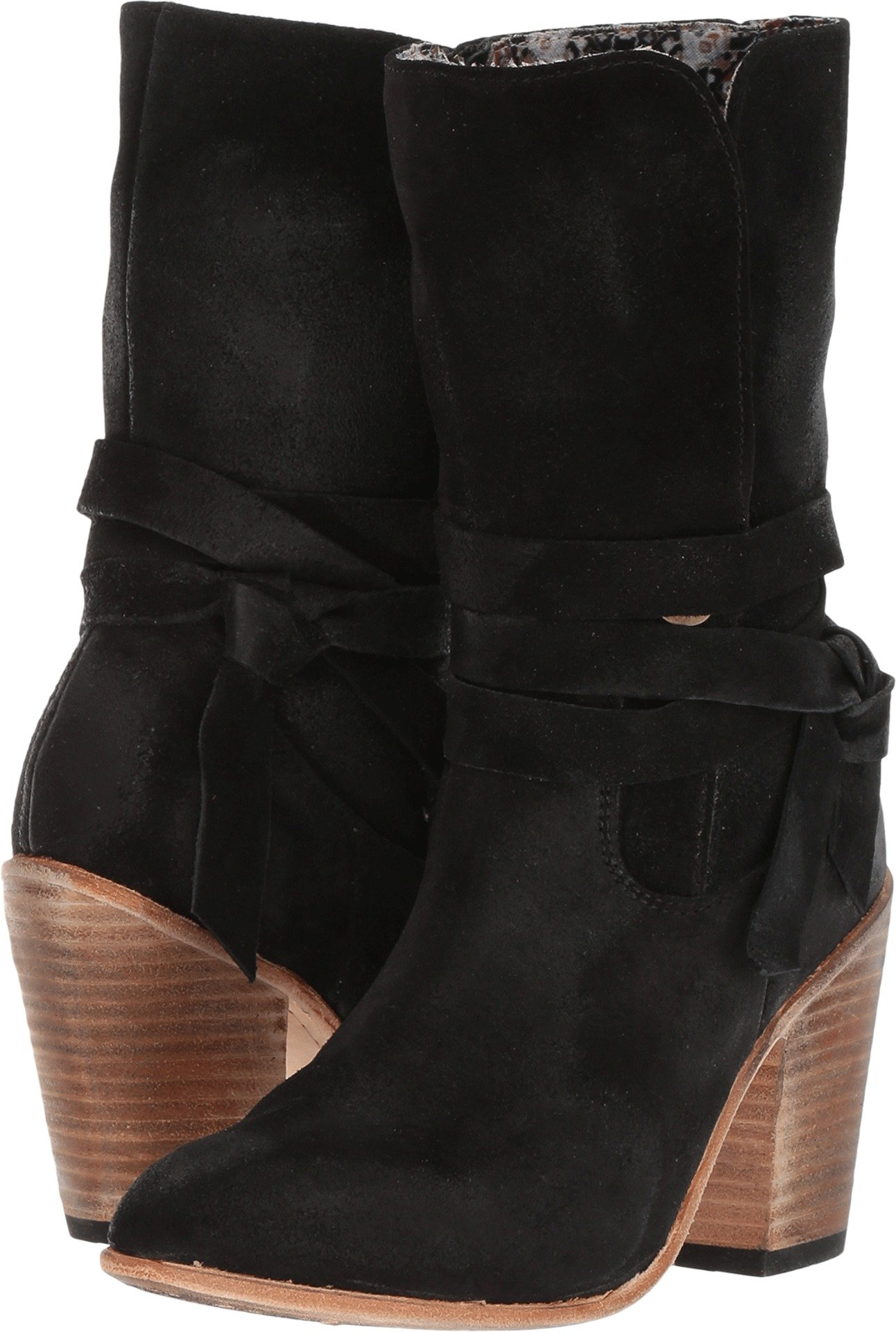 Freebird Women's Riot Western Boot, Black Suede, 7 B US