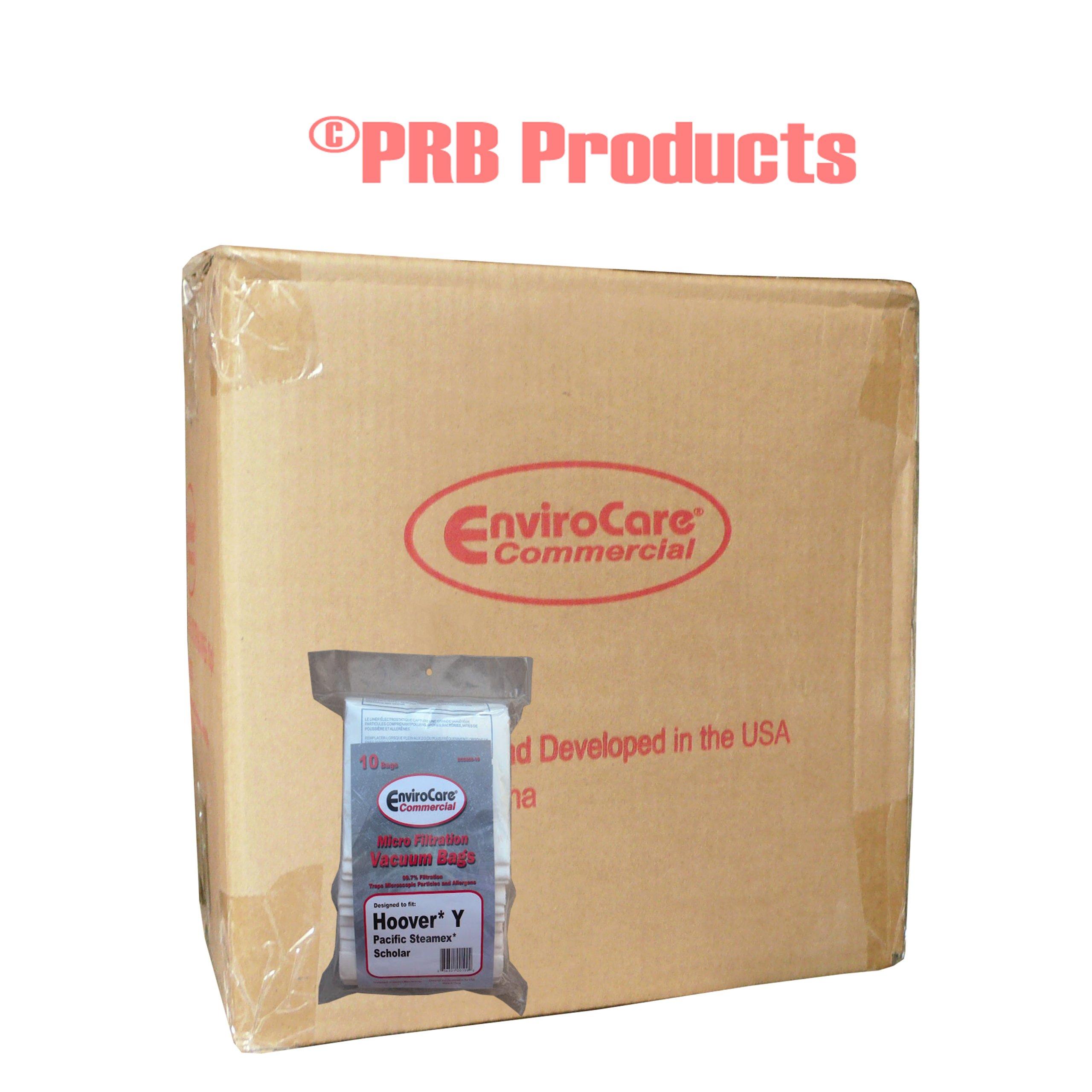 1 Case (10 pkgs) Hoover Commercial Allergy Type Y Bags, WindTunnel Upright Vacuum Cleaners, 43655109, 4010100Y, 4010801Y, AH10060DT,AH10040CLP,902419001
