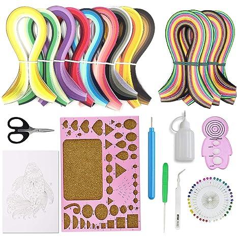 Juego de tiras de papel de filigrana con 11 herramientas de filigrana diferentes, incluye 600