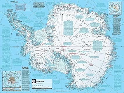 Antarctica map wallpaper wall mural self adhesive multiple sizes antarctica map wallpaper wall mural self adhesive multiple sizes national geographic image gumiabroncs Image collections