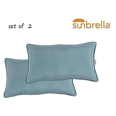 Comfort Classics Inc. Outdoor/Indoor Patio Throw Pillow Set of 2 in Sunbrella Spectrum Mist : Garden & Outdoor
