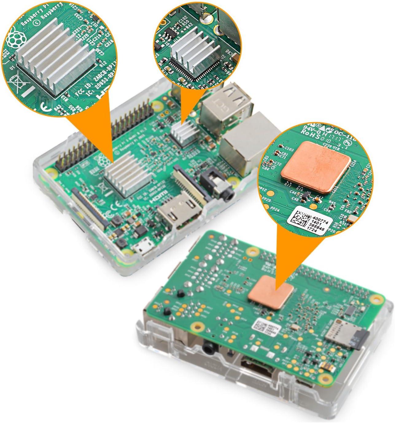Aukru - Disipador de Calor para Raspberry Pi (Aluminio, 3 Unidades ...