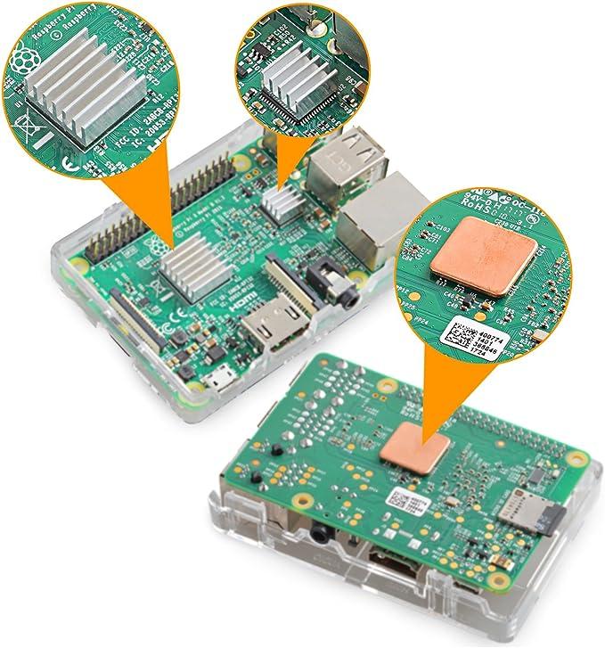 5 sets Alu.Thermique Heat Sink Dissipateur Radiateur Cooling for Raspberry Pi