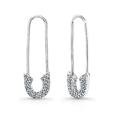 Amazon Victoria Kay 1 3ct White Diamond Safety Pin Earrings
