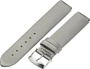 Philip Stein 1-IPL 18mm Leather Silver Watch Strap