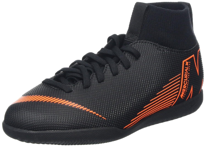 Nike Jr Superflyx 6 Club IC, Zapatillas de Deporte Unisex Adulto 38.5 EU|Multicolor (Black/Total Orange-w 081)