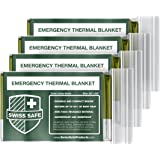 Emergency Mylar Thermal Blankets (4-Pack) + BONUS Signature Gold Foil Space Blanket: Designed for NASA – Perfect for Outdoors, Hiking, Survival, Marathons or First Aid (Various Color Options)