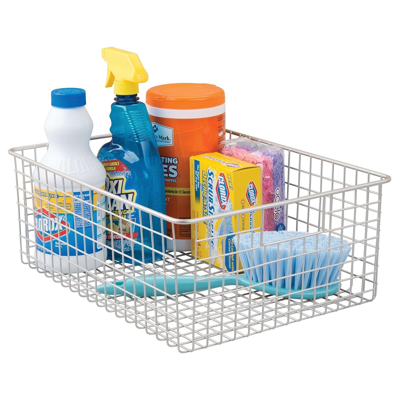Amazon.com: mDesign Kitchen Pantry Organizing Wire Basket with ...