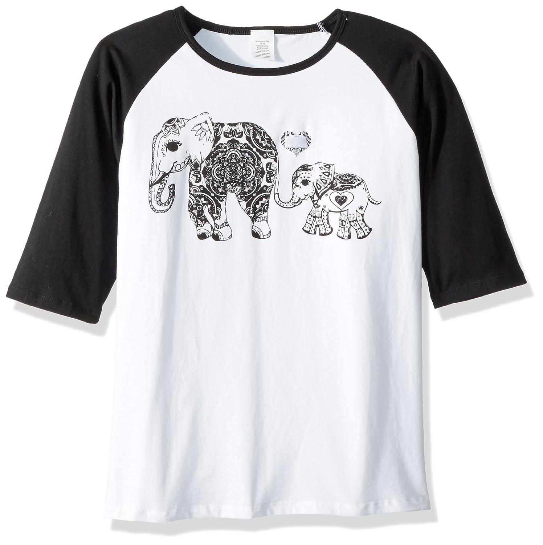 Mi Amore Gigi Girls Elephant Graphic Interchangeable Glitter Heart Top