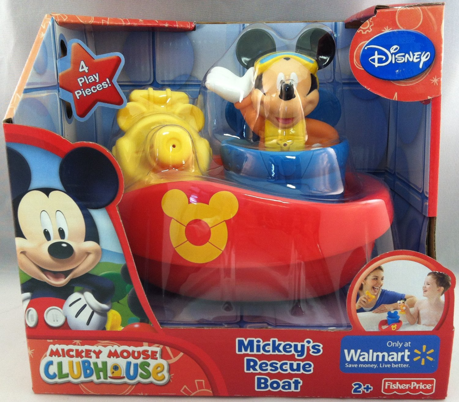 Amazon.com: Disney Mickey Mouse Clubhouse - Mickey\'s Rescue Boat ...