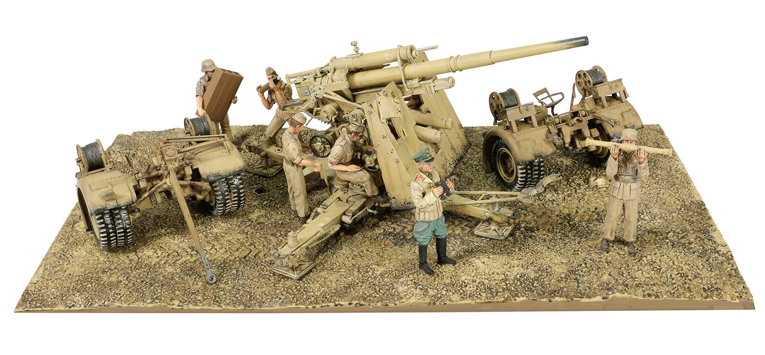 Forces of Valor 1:32 German 88mm Flak 36/37 Anti-Aircraft Gun with Trailer - DAK, El Alamein, North Africa, 1942