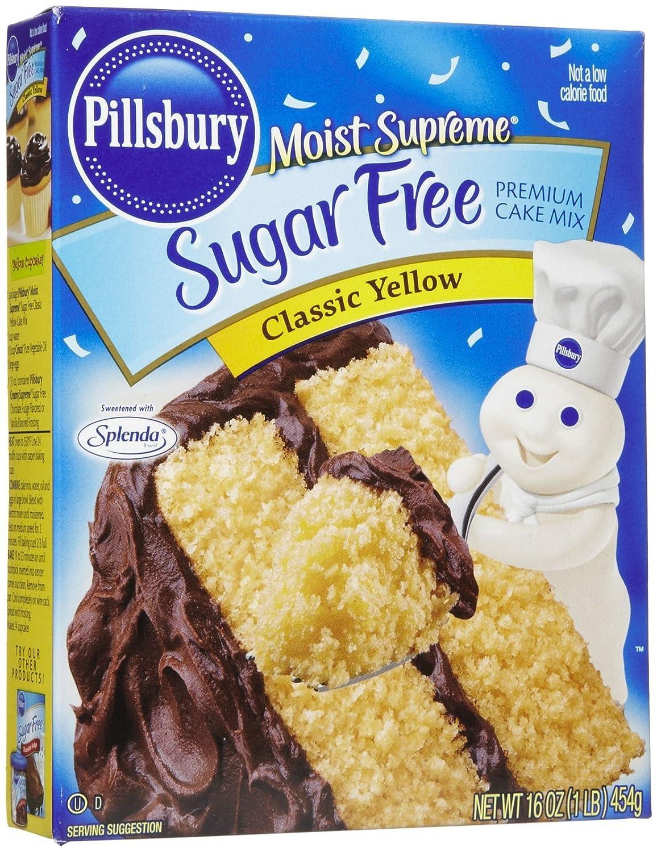 Pillsbury Moist Supreme Sugar Free Classic Yellow Cake & Cupcake Baking Mix, 16 Oz