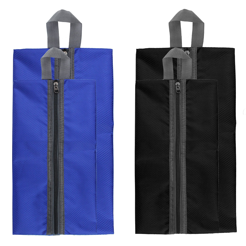 1eca24d5e4619e Amazon.com  Zmart Portable Travel Shoe Bags with Zipper for Men Waterproof  Nylon Traveling Shoe Storage Organizer Packing Cubes 4 Pack  Shoes