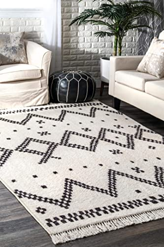 nuLOOM Tracy Moroccan Area Rug, 10 x 13 , Off-white