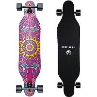 New Olym Longboard Skateboard, 44 Inch 8 Layer Canadian Maple Drop Through Longboards for Youths Beginners.