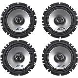 "(2) Pairs Alpine SXE-1725S 6.5""  80 Watt RMS 4 Ohm 2-Way Coaxial Car Audio Speakers"