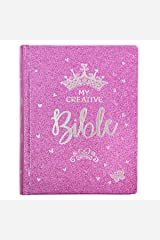 ESV Holy Bible, My Creative Bible For Girls, Purple Glitter Hardcover Bible w/Ribbon Marker, Illustrated Coloring, Journaling and Devotional Bible, English Standard Version Hardcover