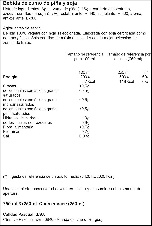 Vivesoy Zumo de Soja y Melocotón - Paquete de 3 x 250 ml - Total: 750 ml - [Pack de 7]: Amazon.es: Alimentación y bebidas