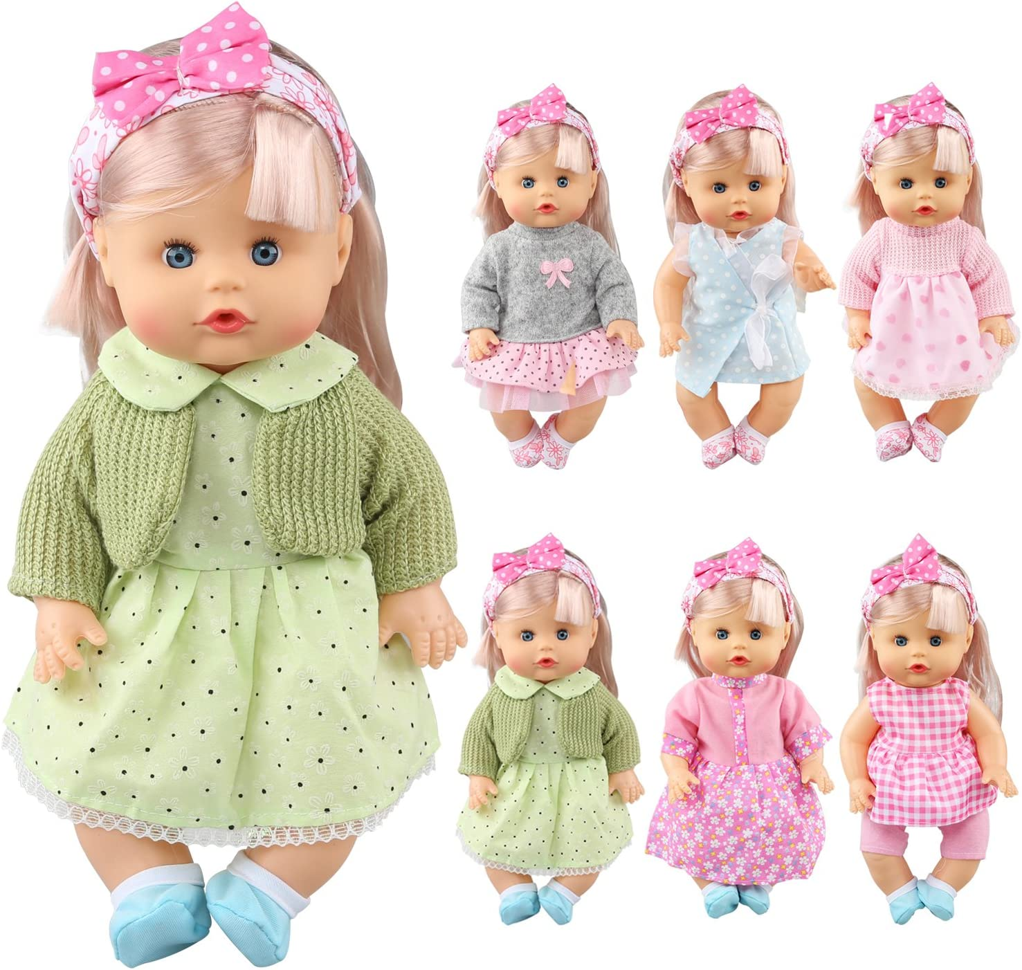 Amazon.com: JING SHOW BUSSINESS Pack of 6 Alive Lovely Baby Gown Dress Clothes  Accessories Outfits Fits 12inch Doll Bitty Baby Doll: Toys & Games