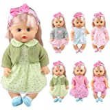 Pack of 6 Alive Lovely Baby Dress Clothes Accessories Gown Outfits Fits for 12inch Doll Bitty Baby Doll