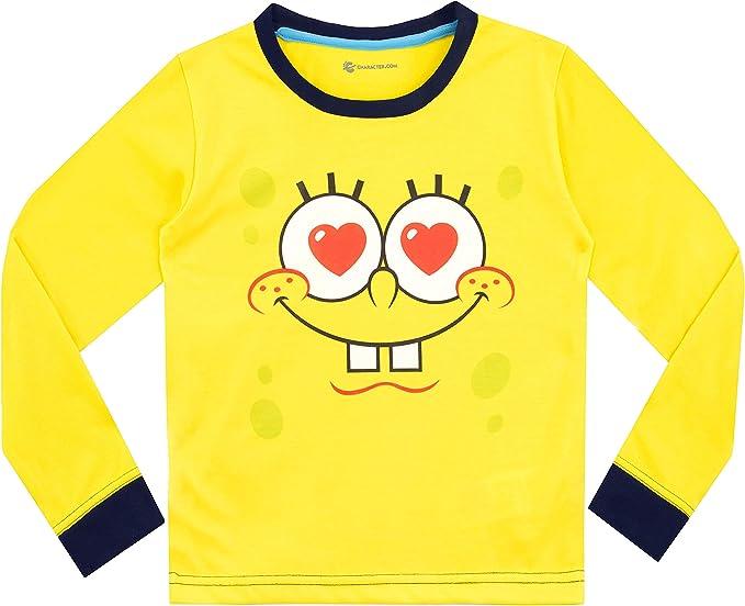 Bob Esponja Pijamas de Manga Larga para niñas Spongebob ...