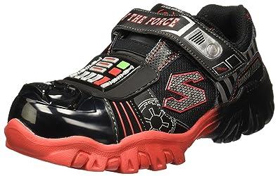 Skechers Boys Star Wars Damager III Turbocharge Sneaker,Black/Red,US 1 M