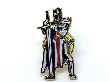 Patch Nation Knights Templar Crusader Masonic Metal Pin Badge
