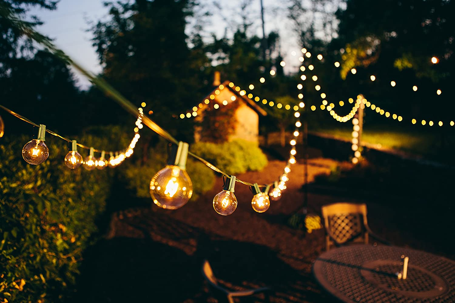 Amazon 25 foot g50 patio globe string lights with 2 inch clear amazon 25 foot g50 patio globe string lights with 2 inch clear bulbs for outdoor string lighting green wire home kitchen audiocablefo