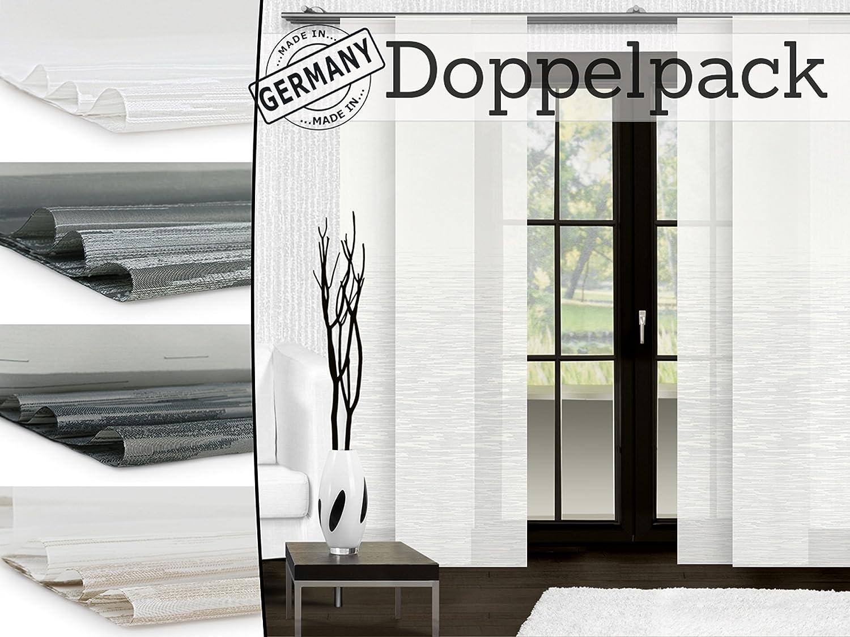 Doppelpack Zum Sparpreis Halbtransparenter Schiebevorhang Ultimo Von Trend Collection Fensterdekoration Made In Germany In Modischem Design Mit