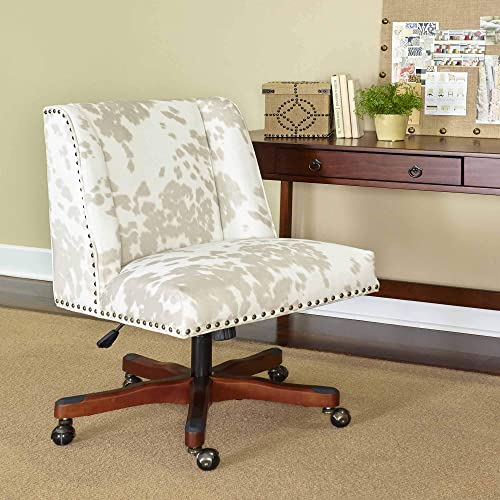 Linon Home D cor Linon Draper Linen Cow Print Office Chair