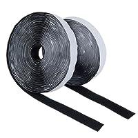 Klettverschluss Selbstklebend Schwarz, Diealles 8M Doppelseitig Klebende Klettband Selbstklebend, Ideal für Heimwerker, DIY (2cmx 8m)