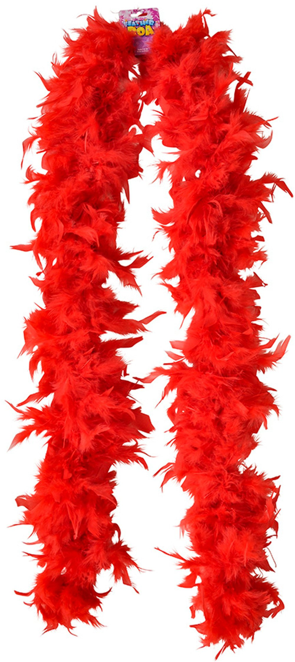 Rhode Island Novelty Dozen Red 72'' Feather Boas 20's Show Girl Cabaret Dancer Costume Accessory