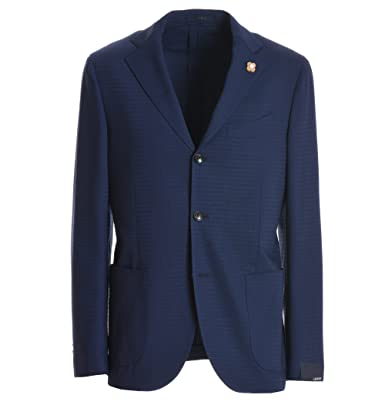 fa503d97b218 LARDINI Herren EE528AFSOFTRP505912 Blau Wolle Blazer  Amazon.de ...