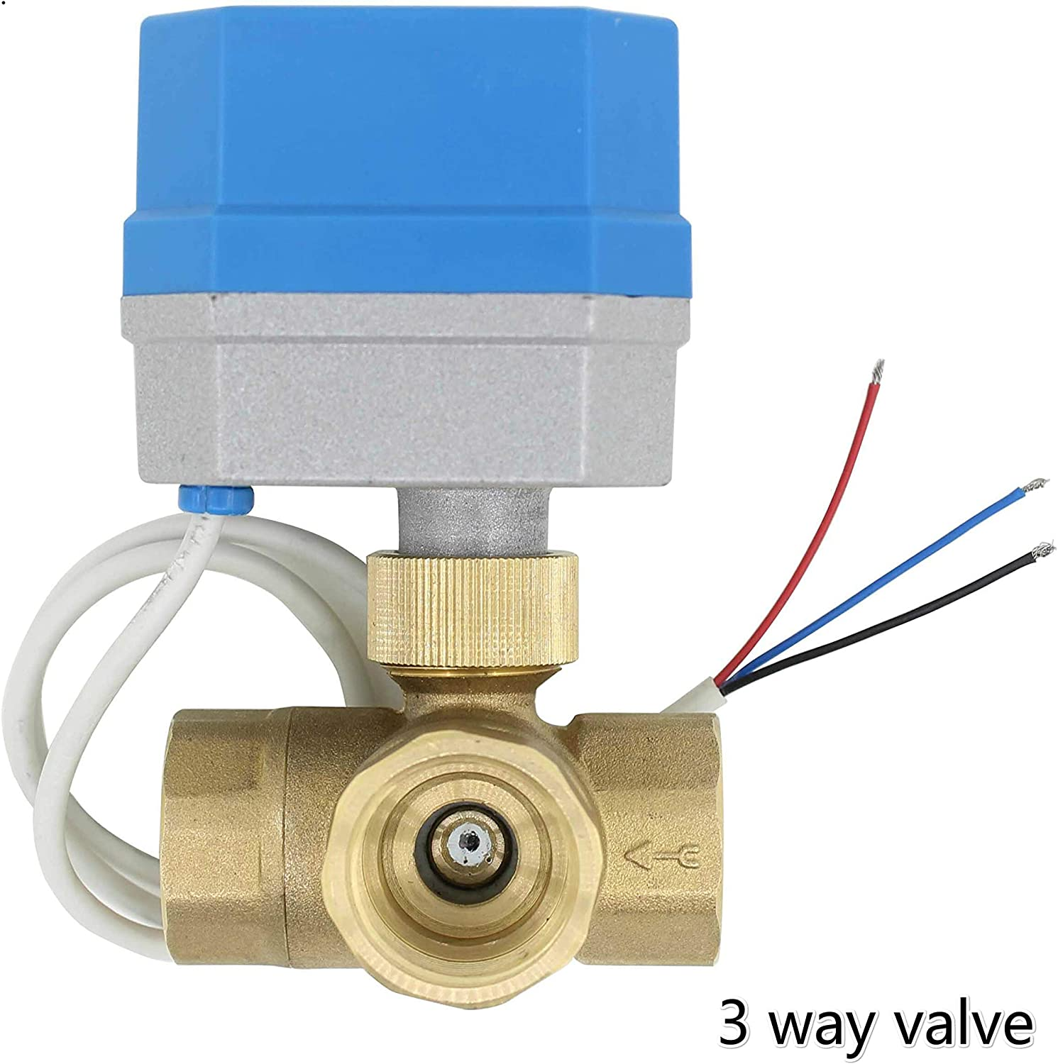 no-branded 2 Way 3way Brass Valve Motorized Ball Valve Electric Ball Valve Electric Actuator Connectors Accessories Valve ZYUS Specification : DC12V, Voltage : DN15