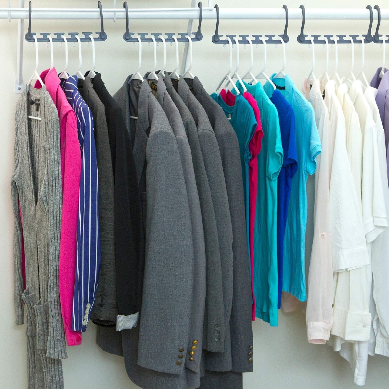 Pantalones Abrigos 10 Unidades OROO port/átiles Perchas m/ágicas multifuncionales para Ahorrar Espacio con Gancho actualizado para Ropa duraderos