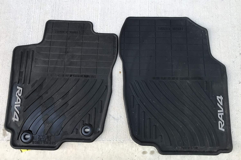 Toyota Floor Mats >> Toyota Rav4 Black All Weather Floor Liners Pt908 42165 20 Non Hybrid