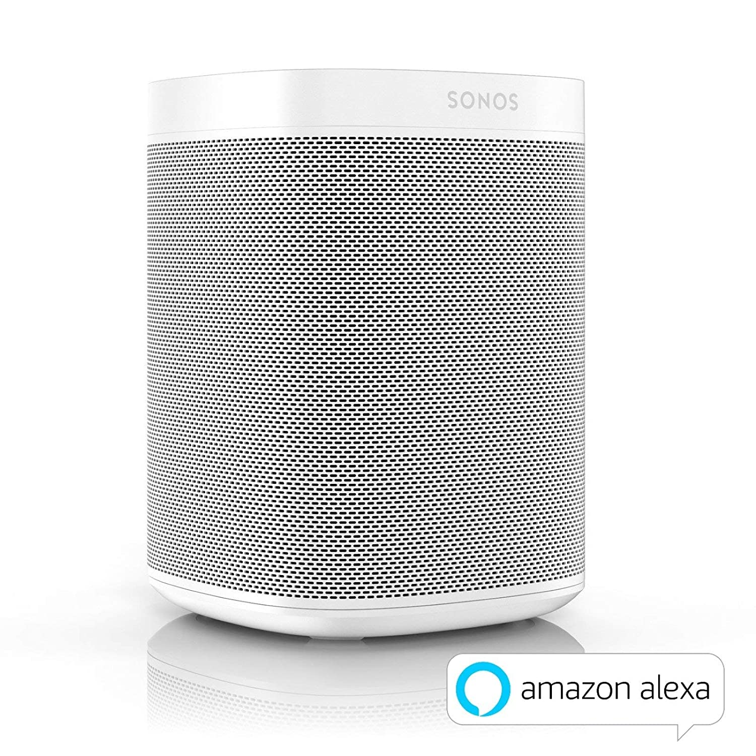 Sonos One, lo Smart Speaker per Ascoltare la Musica in Streaming con Alexa Integrata, Bianco