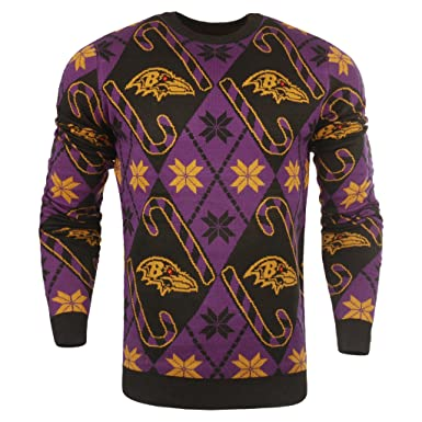 ece217b845a Amazon.com  NFL Baltimore Ravens Ugly Sweater  Clothing
