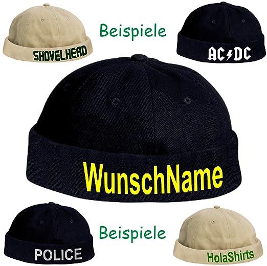 0ed94a377a9c Docker-CAP POLIZEI Policia Cop Kappe Police Bikercap Roll-Mütze Karneval  Fasching (dunkelblau weiß)  Amazon.de  Bekleidung