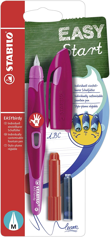 STABILO EASYbirdy Penna Stilografica Ergonomica Rosa/Magenta per Destrimani -Blister B-53290-5