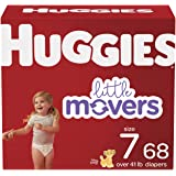 Diapers Size 7 - Huggies Little Movers Disposable Baby Diapers, 68ct, Mega Colossal Pack