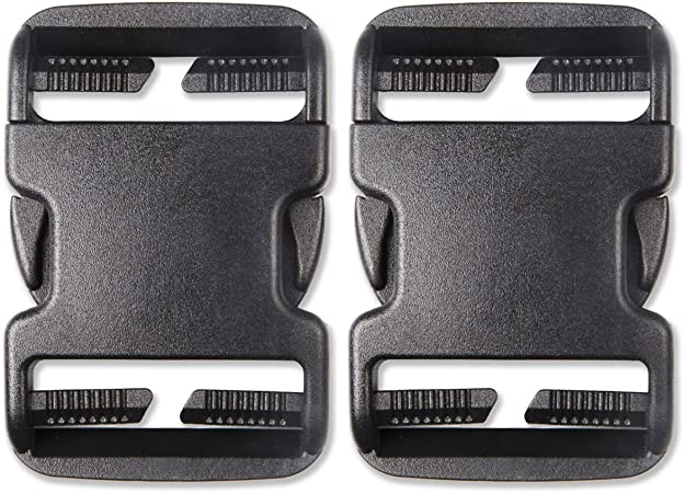 2pcs High Plastic Buckle Black Quick Release Replacement Clips For Backpacks