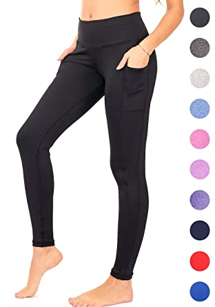 8a86c51c00a Amazon.com  DEAR SPARKLE High Waist Yoga Pants Workout Pockets Tummy ...