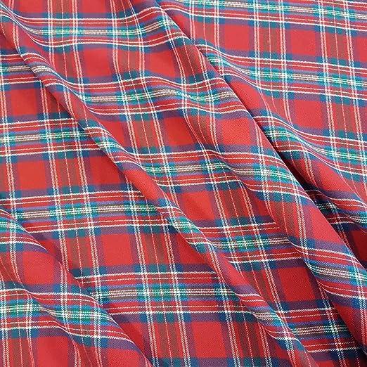 Stoff-Kollektion Tela por Metros, algodón, Cuadros Escoceses, Rojo ...